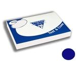 Hátlap karton bőrhatású Clairefontaine A4 kék 270g