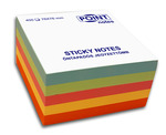 Öntapadó jegyzettömb 75x75mm, 400/450l pasztell színek