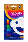 Gyurma készlet, 12 színes, 200g, Nebulo