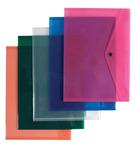 Irattartó tasak P+P A4, patentos, műanyag, NARANCS