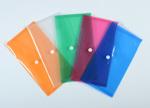 Irattartó tasak P+P DL (LA4/csekk), patentos, műanyag, narancs