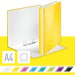 Leitz WOW karton gyűrűskönyv, 2 gyűrű, sárga 42410016
