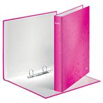 Gyűrűskönyv LEITZ lakkfényű A/4 2db D gyűrűvel 40 mm gerinc rózsaszín 42410023