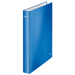 Gyűrűskönyv LEITZ lakkfényű A/4 2db D gyűrűvel 40 mm gerinc kék 42410036