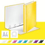 Leitz WOW karton gyűrűskönyv, 4 gyűrű, sárga 42420016