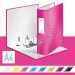 Iratrendező Leitz lakkfényű 180 fokos, 80mm, rózsaszín 10050023