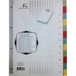 Elválasztólapok A4, színes karton, 6 részes