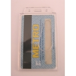 Kártyatok álló polyakril áttetsző, belső mérete: 85x54x1mm
