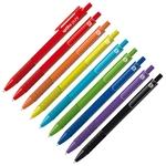 Golyóstoll Spoko 0118 Pure vegyes 9 féle, matt színű tolltest, kék íráskép