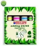 Edding 24/4S ECOLINE 4 db-os szövegkiemelő készlet