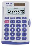 Zsebszámológép SEC 263/8 napelem+elem SENCOR