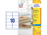 Etikett Avery J4722-25, 96x50,8mm, tintasugaras nyomtatóhoz, átlátszó, 250 címke/csomag