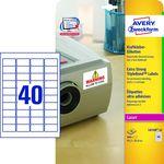 Etikett Avery L6140-20, 45,7x25,4mm 20lap/csomag