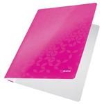 Gyorsfűző, laminált karton, A4, LEITZ Wow pink