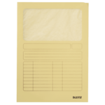 Kartonmappa Leitz, ablakos, A4, sárga 39500315