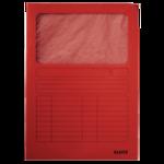Kartonmappa Leitz, ablakos, A4, piros 39500325