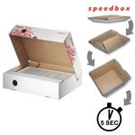 Esselte Speedbox archiváló doboz felfele nyíló tetővel, 80 mm 623910