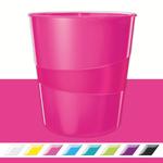 Leitz WOW metálfényű papírkosár, rózsaszín 52781023