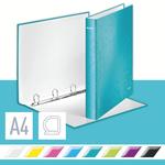 WOW lakkfényű gyűrűskönyv, 4 gyűrű, jégkék 42420051