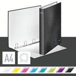 Leitz WOW karton gyűrűskönyv, 4 gyűrű, fekete 42420095