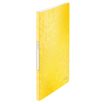 Leitz WOW iratvédő mappa, 20 tasakos, sárga 46310016