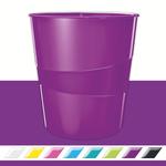 Leitz WOW metálfényű papírkosár, lila 52781062