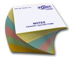 Csavart jegyzettömb színes 76mmx76mm 500lapos pasztel
