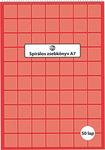 Spirálos zsebkönyv A6 50 lapos kockás