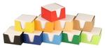 Kockatömb 9x9x6 fehér lapok, mintás dobozban