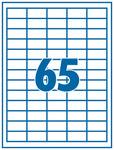 Etikett 38,1x21,2mm 65 címke/lap 100 ív/doboz