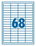 Etikett 48,5x16,9mm 68 címke/lap 100 ív/doboz