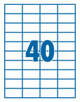 Etikett 52,5x29,7mm 40 címke/lap 100 ív/doboz