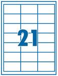 Etikett 63,5x38,1mm 21 címke/lap 100 ív/doboz