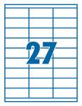 Etikett 70x32mm 27 címke/lap 100 ív/doboz