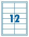 Etikett 97x42,3mm 12 címke/lap 100 lap/doboz
