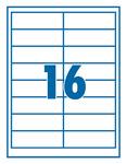 Etikett 99,1x33,9mm 16 címke/lap 100 ív/doboz