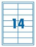 Etikett 99,1x38,1mm 14 címke/lap 100 ív/doboz