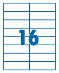 Etikett 105x37mm 16 címke/lap 100 ív/doboz