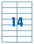Etikett 105x42,4mm 14 címke/lap 100 ív/doboz
