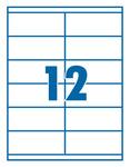 Etikett 105x48mm 12 címke/lap 100 ív/doboz