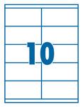 Etikett 105x58/57mm 10 címke/lap 100 ív/doboz