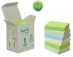 Öntapadós jegyzettömb 38x51 pasztell szivárvány Green Line 3M Post-it 6db/csomag