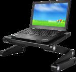 Laptoptartó állvány X1 fekete