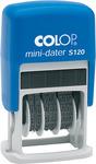Dátumbélyegző COLOP S 120 mini , fekete párnával önfestékező