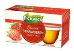 Tea Pickwick fekete tea, földieper ízzel 20x1,5gr