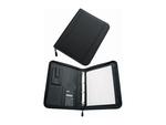 Konferencia mappa SaKOTA A/4, fekete, cipzáras, 4 gyűrűs, számológép, külső zseb