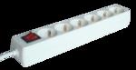 Elosztó Tracon 6-os 3m kapcs250V, 3680W, max.16A, 3x1,5mm2, H05VV-Ffehér, normál