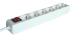 Elosztó Tracon 6-os 5m kapcs250V, 3680W, max.16A, 3x1,5mm2, H05VV-Ffehér, normál