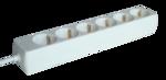 Elosztó Tracon 6-os 3m250V, 3680W, max.16A, 3x1,5mm2, H05VV-Ffehér, normál