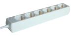 Elosztó Tracon 6-os 5m250V, 3680W, max.16A, 3x1,5mm2, H05VV-Ffehér, normál